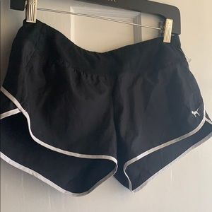 PINK YOGA SHORTS /SWEATS.  Sz XS.  BLK WHITE TRIM
